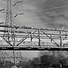 Pylon, urban Lanscape Canal. Solarised. by Streetpages