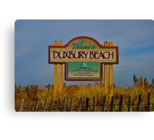 duxbury beach Canvas Print