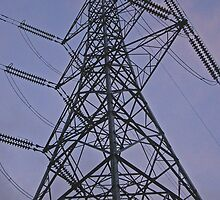Pylon, on canal Urban  landscape  Colour by Streetpages