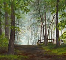 Foggy Morning in Woodland by Maureen Whittaker