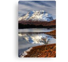 Liathach, The Tree, and Loch Clair. North West Scotland. Canvas Print