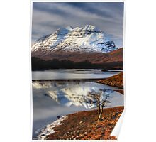 Liathach, The Tree, and Loch Clair. North West Scotland. Poster