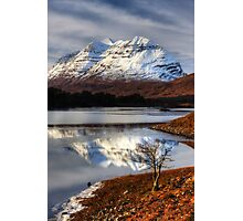 Liathach, The Tree, and Loch Clair. North West Scotland. Photographic Print