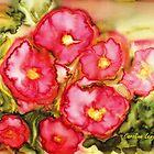 Pink Flowers by Caroline  Lembke