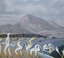 Canaries  Islanders 1 by Barry Burke