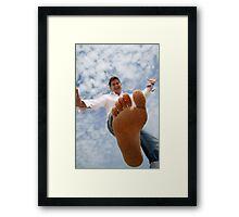 Mind your step Framed Print