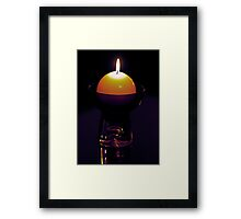 How far that little candle throws its beams Framed Print