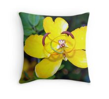 New beginning under a golden shower Throw Pillow