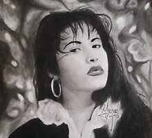 Selena Drawing by MichaelT