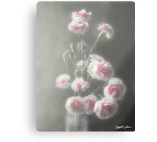 Pink Centered Carnations 1 - Ethereal Radiance Canvas Print