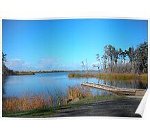 Garrison Lake, Port Orford Poster