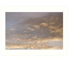 Hebden clouds Art Print