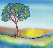 Lone Tree in Summer by Caroline  Lembke