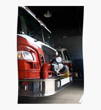 Fire engine red Poster