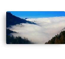 VALLEY IN CLOUDS Canvas Print