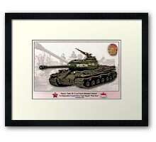 Soviet Tank IS-2 Iosif Stalin Framed Print
