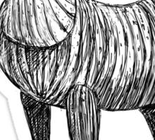 Wooden Horse Sticker