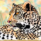 Round spotted leopard (all styles animals series) by Marilyns