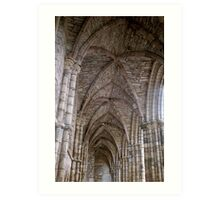 Ceiling Detail of Holyrood Abbey, Edinburgh Art Print