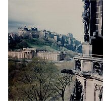 View Of Edinburgh  Castle from the Walter Scott Monument Photographic Print