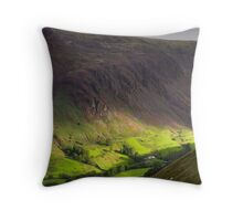 The valley at Tal y Llyn - North Wales Throw Pillow