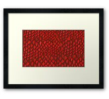 Game of Thrones - Red Dragon Scales Framed Print