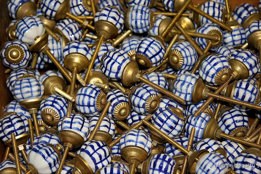 Vintage doorknobs by Maggie Hegarty