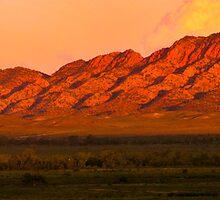 South Australia - Rawnsley park - Sunset 3 by Geoffrey Thomas