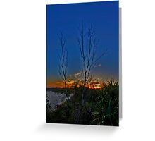Burning Sunset at Dreamtime Greeting Card