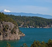 Mt. Baker from Deception Pass Bridge by Barb White