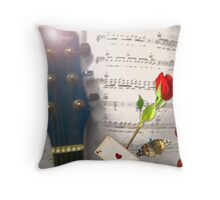 Hearts and Thoughts Throw Pillow