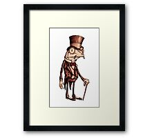 'Pretentious Frog' Framed Print