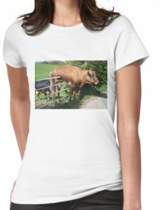 Cow and Gate. Womens Fitted T-Shirt