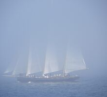 Sailboat in the Fog by MaryinMaine