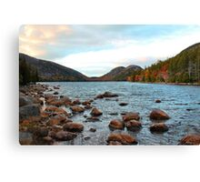 'Jordan Pond and the Bubbles' Canvas Print