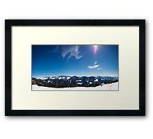 Panorama Alpwegkopf Framed Print