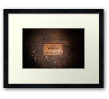 Furniture Maker Stills No. 1 Framed Print
