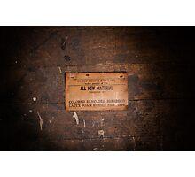 Furniture Maker Stills No. 1 Photographic Print