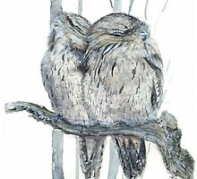 Tawny Frogmouth by melhillswildart