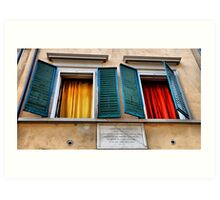 Colorful windows Art Print