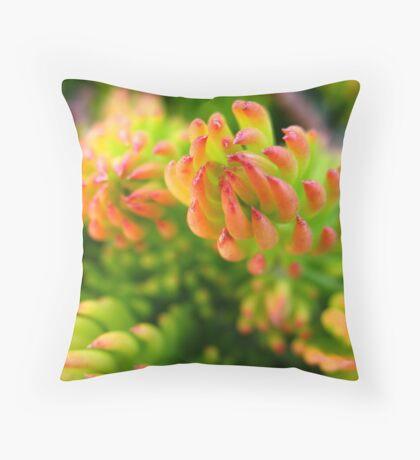 Tropicana buds Throw Pillow