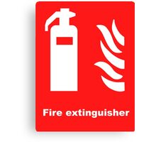 Fire Extinguisher Canvas Print