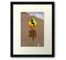 55 kilometers an hour Framed Print