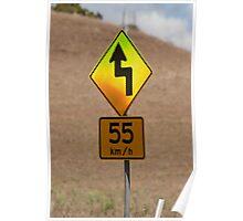 55 kilometers an hour Poster