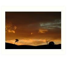 Pyrenees Sunset Art Print