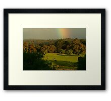 Late Light, Otway Farmlands Framed Print