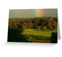 Late Light, Otway Farmlands Greeting Card
