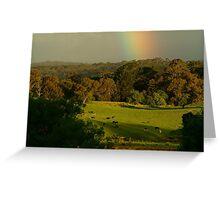 Late Light, Otway Farmlands Greeting Card
