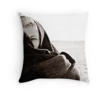 Girl With One Eye Throw Pillow
