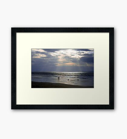 The Beach Walkers Framed Print